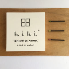 hibi 10 minute incense traditional scents : gift box