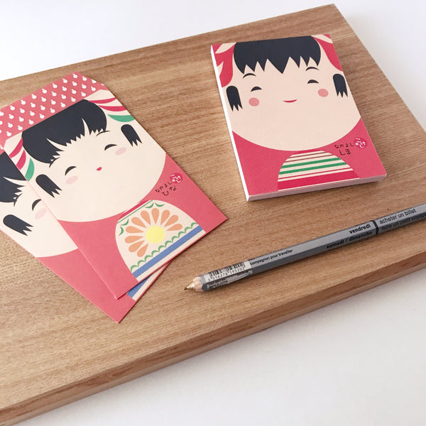 kokeshi mini envelope