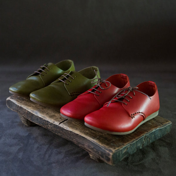 sisam leather lace ups : russet