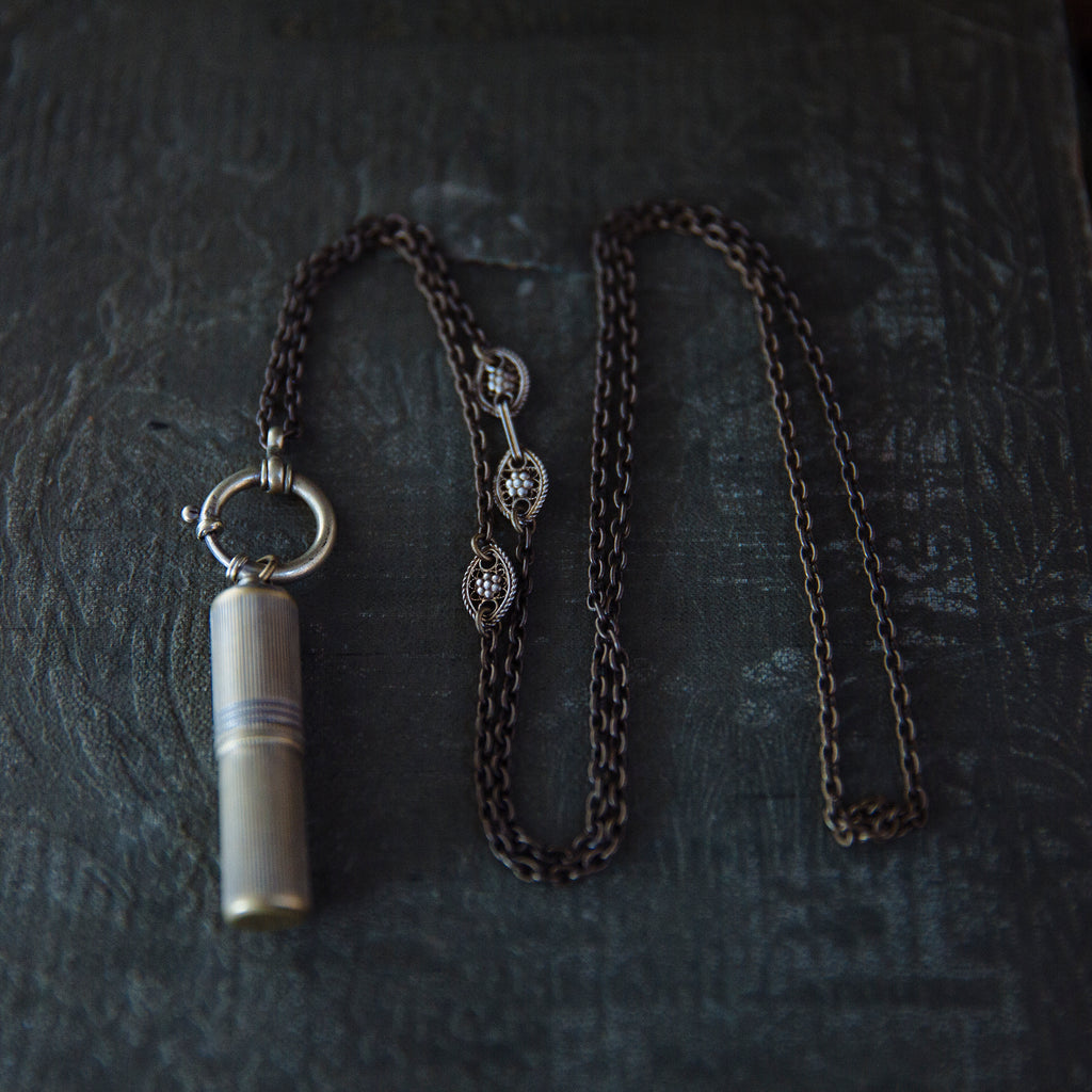 tabito : saint case and pocket watch necklace