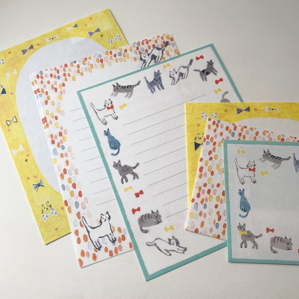kitty cat letter set