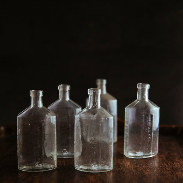 vintage Japanese glass bottles