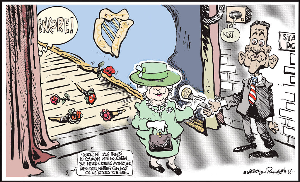 Martyn Turner. The Queen and Obama. May 21st, 2012.