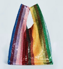 Load image into Gallery viewer, The Rainbow Carrier Sequin Tote