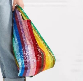 The Rainbow Carrier Sequin Tote