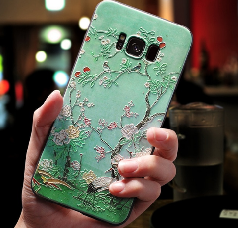 Floral Relief Samsung Cover