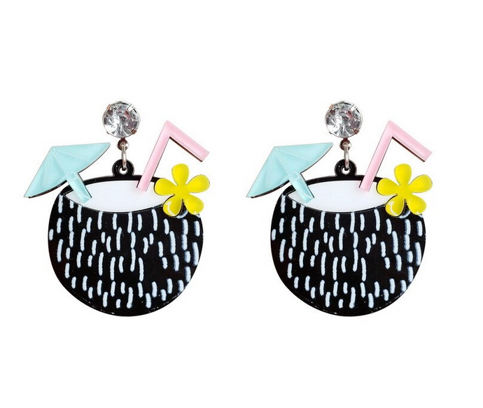 Coconut Cocktail Earrings