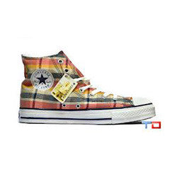 Converse Plaid Hi blue/yellow