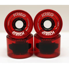 Krieg longboard wheels clear red