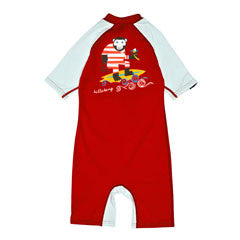 BILLABONG JUNGLE TODDLER SHORT SLEEVED SUN SUIT IN FIRE RED