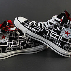 Converse 100 pipes black/silver