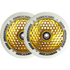 Root Honeycore White Complete 110mm Wheel 2-pack gold