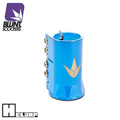 Blunt H clamp - blue