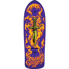 Powell Peralta Bones Brigade Tommy Guerrero Flaming Dagger Deck Purple