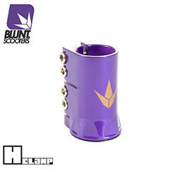 Blunt H clamp - purple