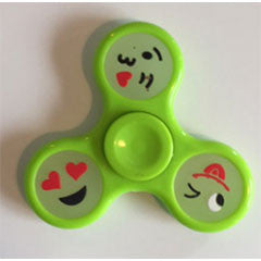Handspinner glow in the dark smiley groen