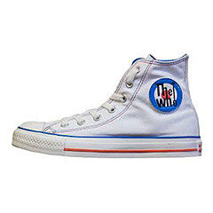 Converse Who logo hi white/blue