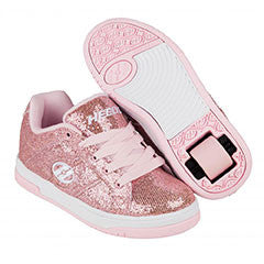 Heelys Split light pink disco glitter