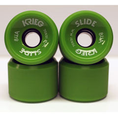 Krieg longboard wheels dull surface green