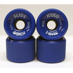 Krieg longboard wheels dull surface blue