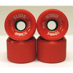 Krieg longboard wheels dull surface red