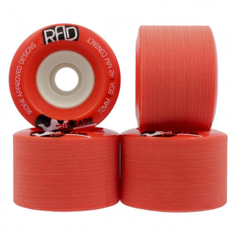 RAD Wheels 72mm 80a RED