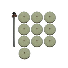 POLISHING SET - LARGE (10 POLISHING WHEELS + 1 MANDREL)