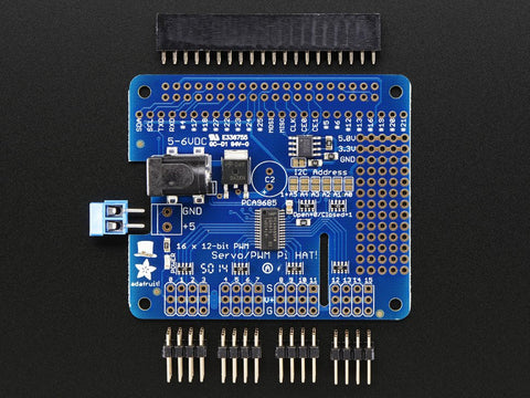 AdafrAdafruit Perma-Proto HAT for Pi Mini Kit - No EEPROM-2310uit 16-Channel PWM / Servo HAT for Raspberry Pi - Mini Kit  2327