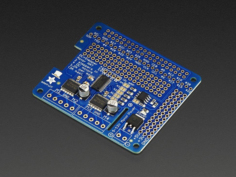 Adafruit DC & Stepper Motor HAT for Raspberry Pi - Mini Kit -2348