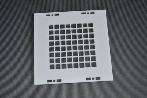 Wordclock Square Front Plate White