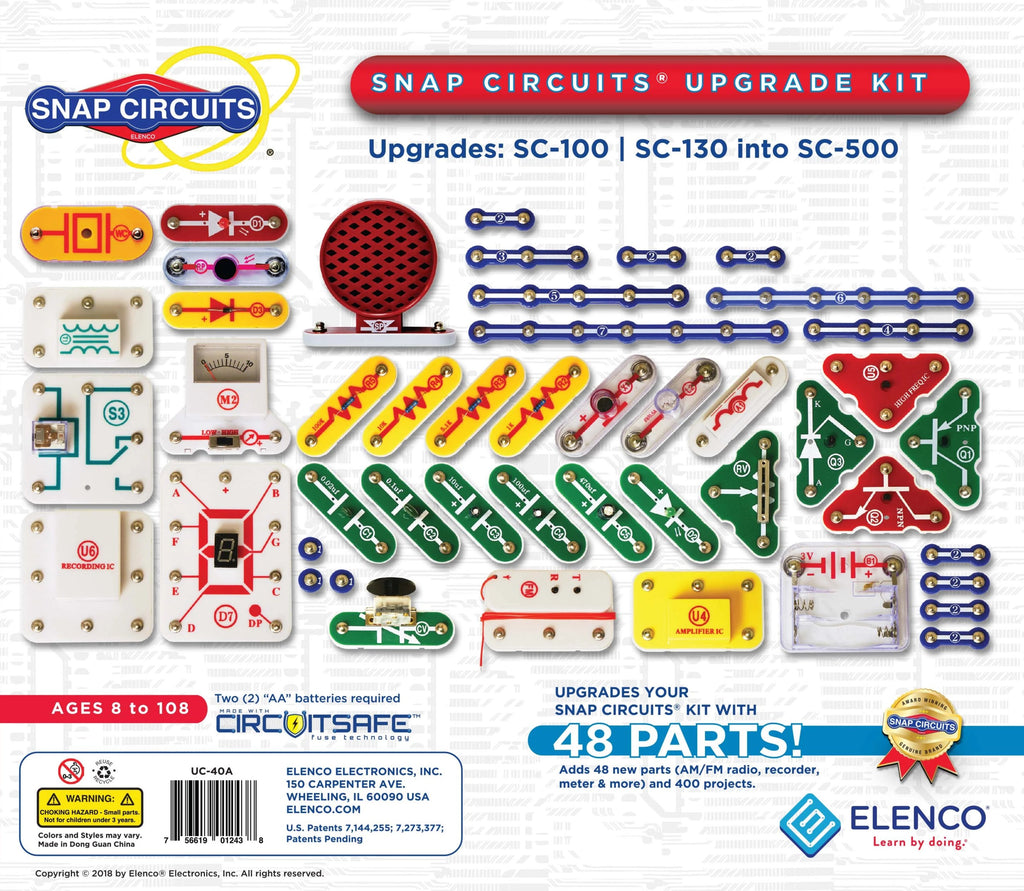 UC-40 Snap Circuits® Upgrade Kit SC100/SC130 into SC500