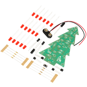 Tree Project Kit - Flashing LED Christmas Tree