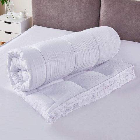 The non-slip particles at the bottom can fix the mattress pillow topper