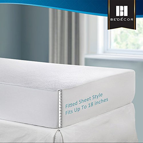 Bedecor Cotton Terry Waterproof Mattress Protector-Product Image