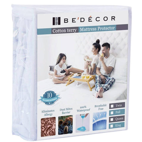 Bedecor Cotton Terry Waterproof Mattress Protector
