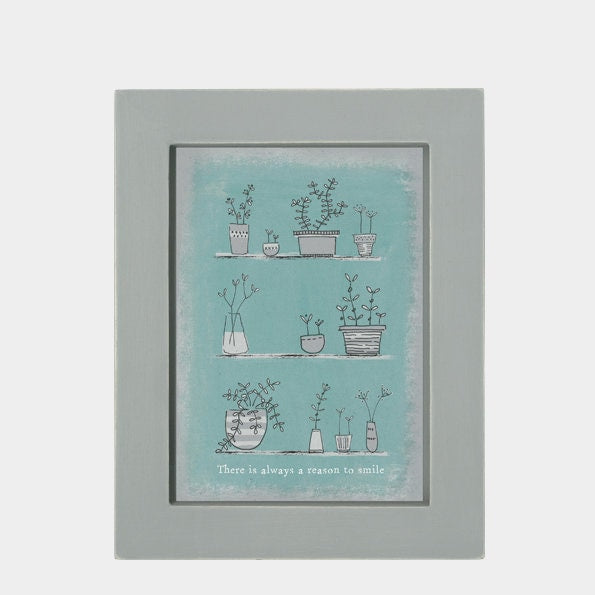 East Of India: A6 Framed Print - Always A Reason To Smile