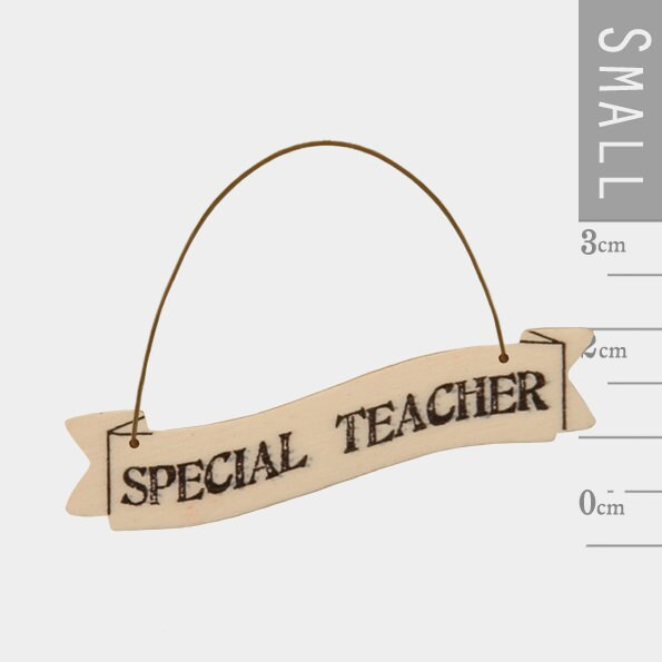 East Of India: Small Ribbon Word Hanger - Special Teacher