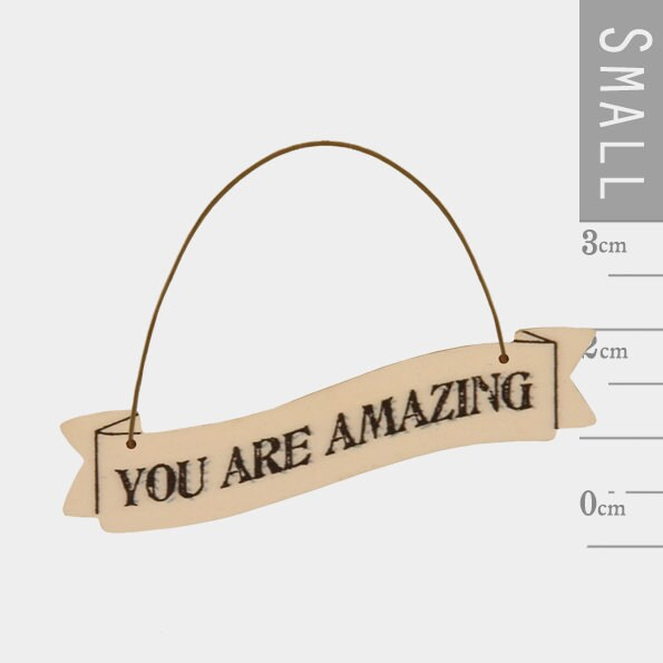 East Of India: Small Ribbon Word Hanger - You Are Amazing
