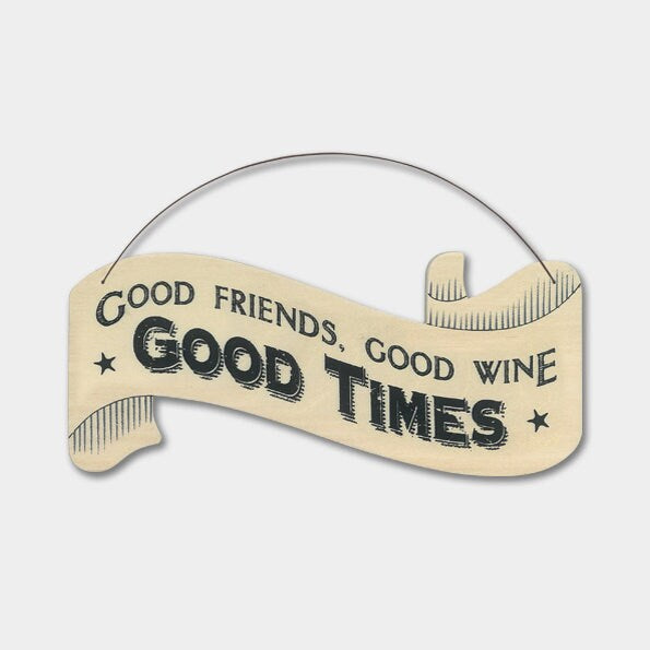 East Of India: Large Ribbon Word Hanger - Good Friends