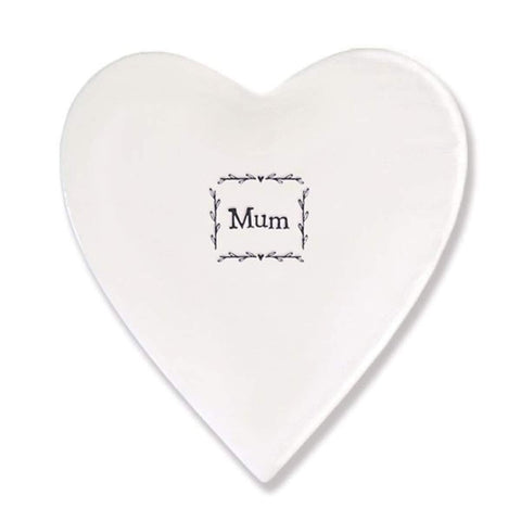 East Of India: Heart Porcelain Coaster - Mum