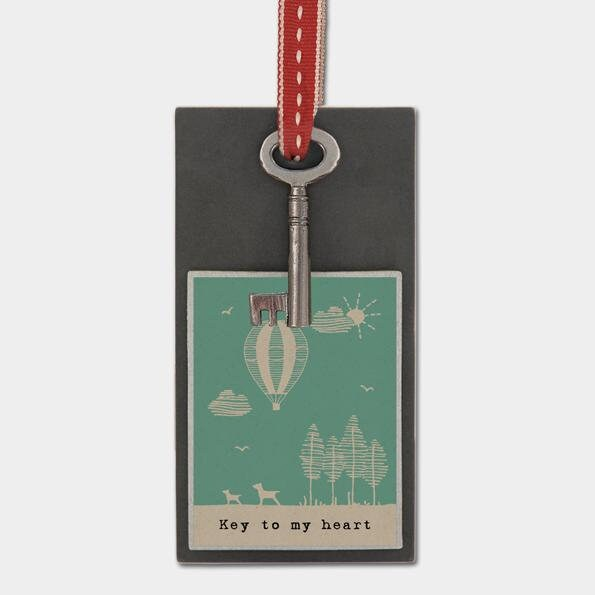 East Of India: Gift Token - Metal key - Key to my heart