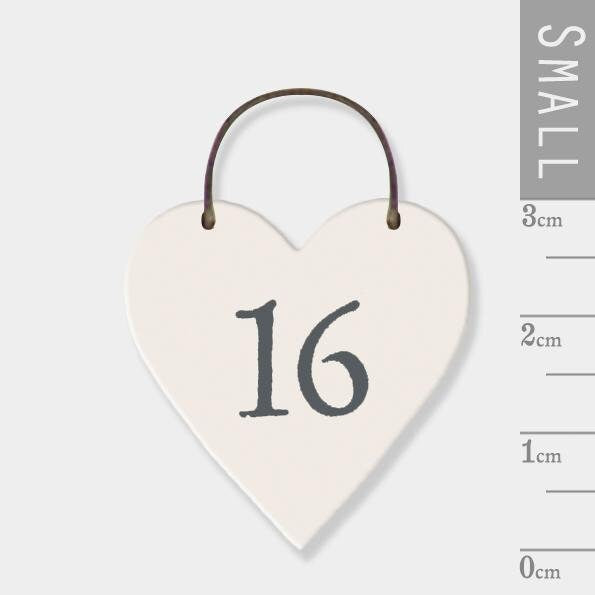 East Of India: Mini wooden heart on wire hanger - 16