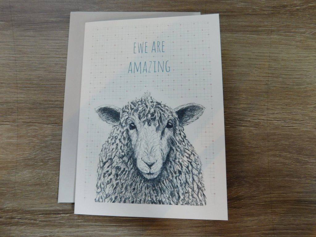 East Of India: Animal Greetings Card - Ewe Are Amazing