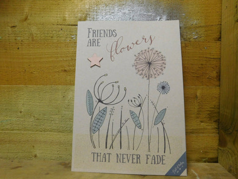 East Of India: A4 Print - Friends Are Flowers