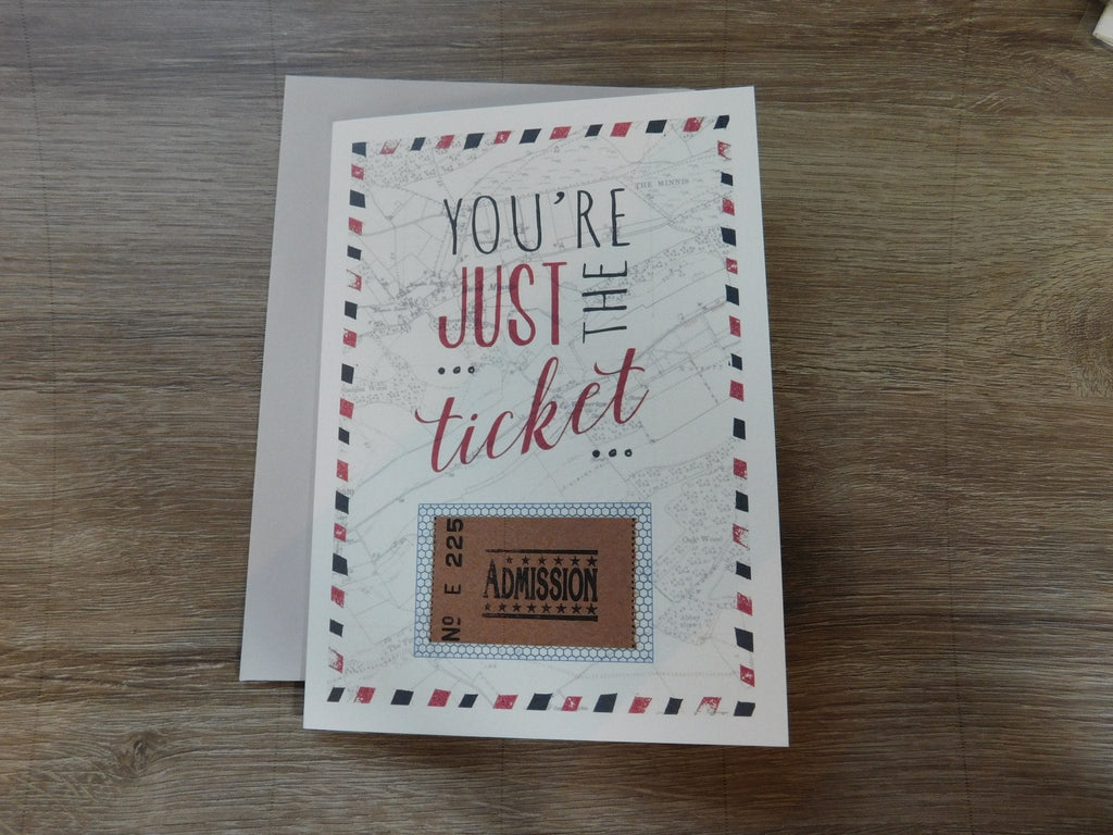 East Of India: Greetings Card - You're Just The Ticket