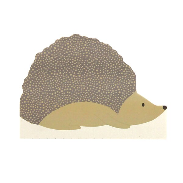 Sara Miller Collection - Small DieCut Memo Block - Hedgehog