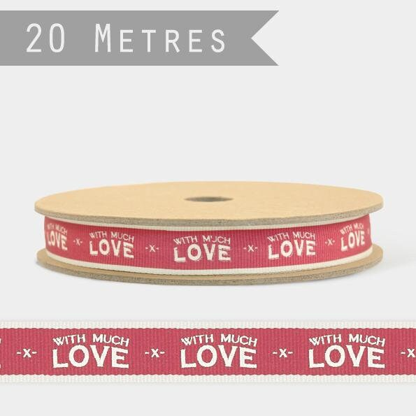 East Of India: With Much Love Ribbon- 20 Metre Spool