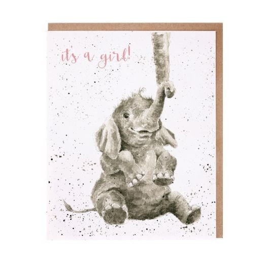 Wrendale Designs - 'Precious Girl' New Baby card
