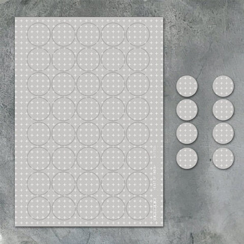 East Of India: A4 Sticker Sheet - Little Grey Crosses (40pc)