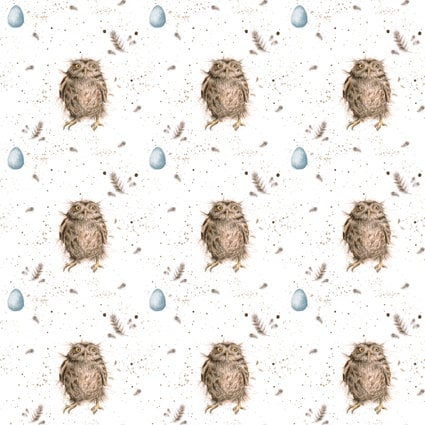 Wrendale Designs - 'Treetop feathers' Single Sided Gift Wrap